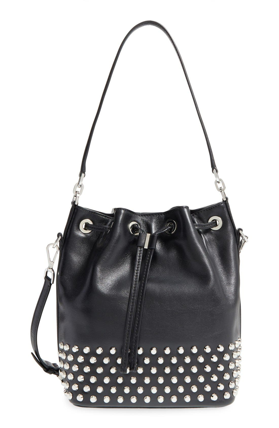 Alternate Image 1 Selected - MICHAEL Michael Kors 'Dottie' Studded Leather Bucket Bag