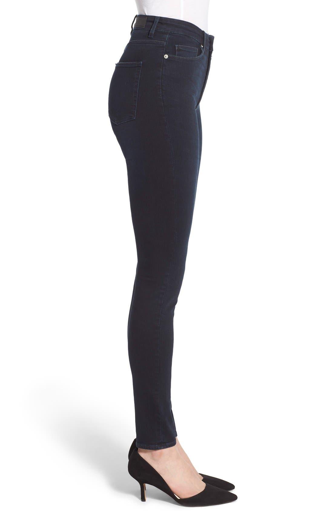 Alternate Image 3  - Cheap Monday High Rise Skinny Jeans (OD Blue)