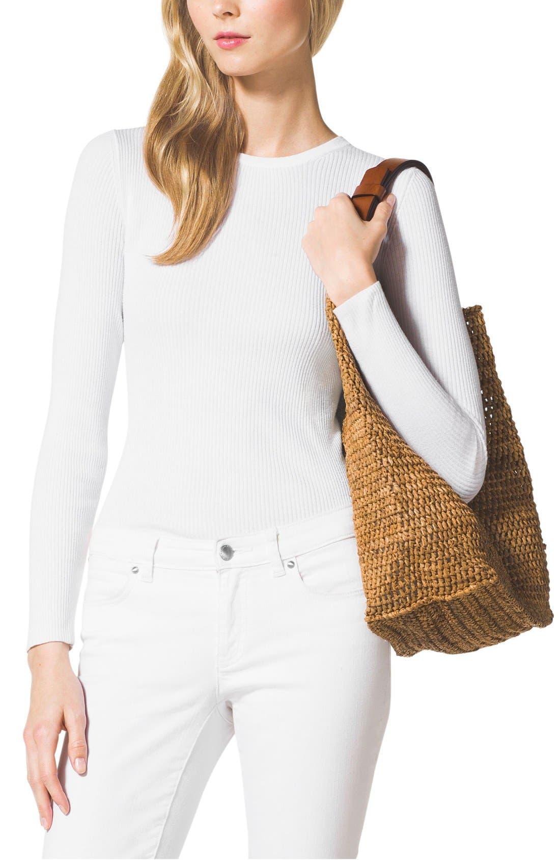 Alternate Image 2  - Michael Kors 'Large Santorini' Raffia Shoulder Bag