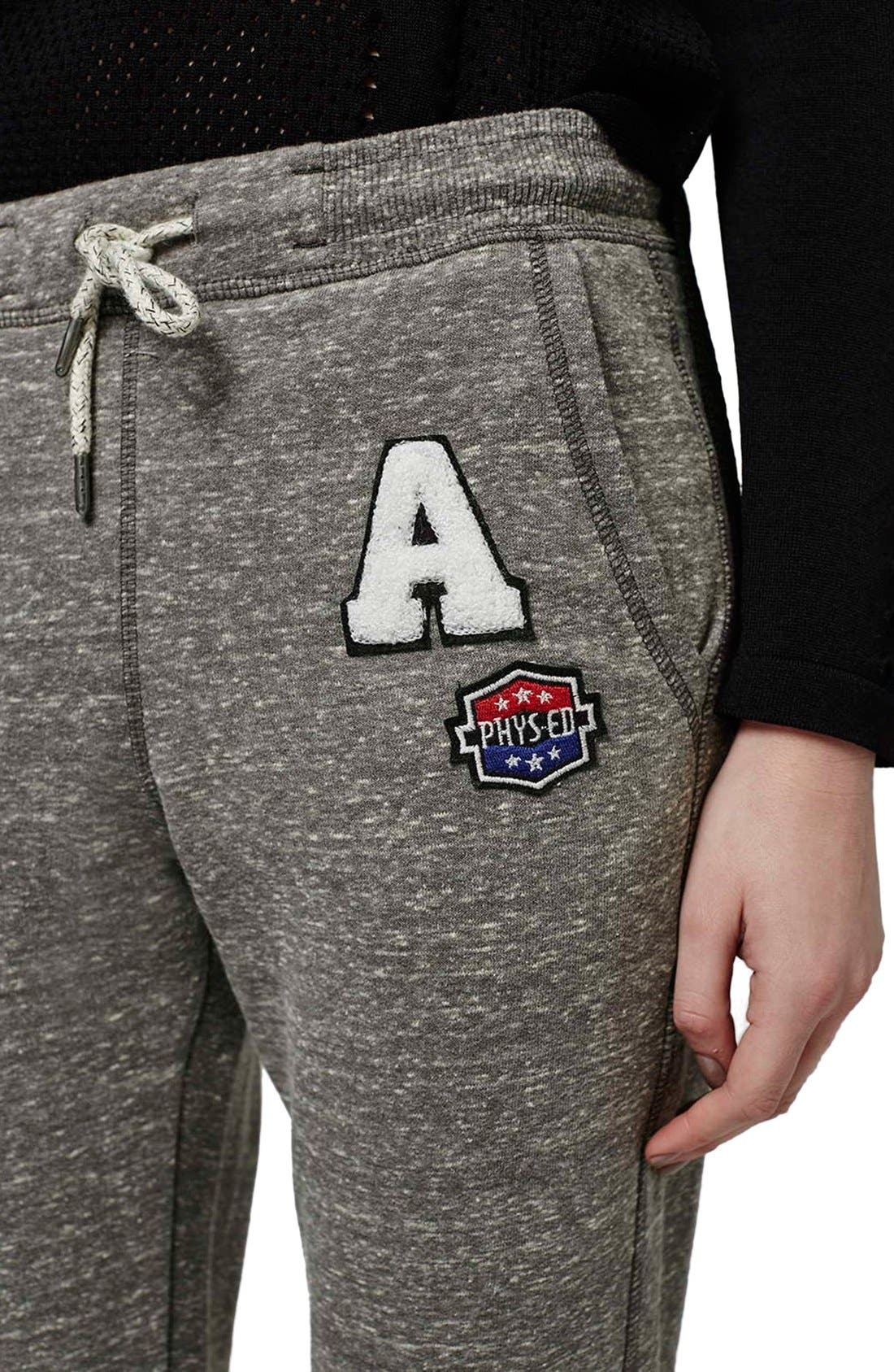 Alternate Image 4  - Topshop 'Jenner' Badge Jogger Pants