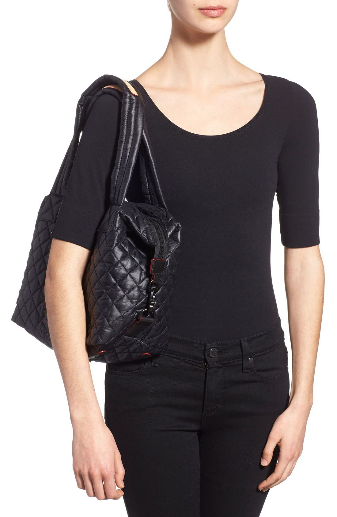 Alternate Image 3  - MZ Wallace 'Medium Sutton' Quilted Oxford Nylon Shoulder Tote