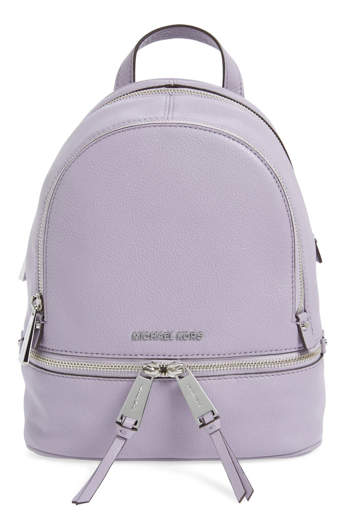 Alternate Image 1 Selected - MICHAEL Michael Kors 'Extra Small Rhea' Leather Backpack