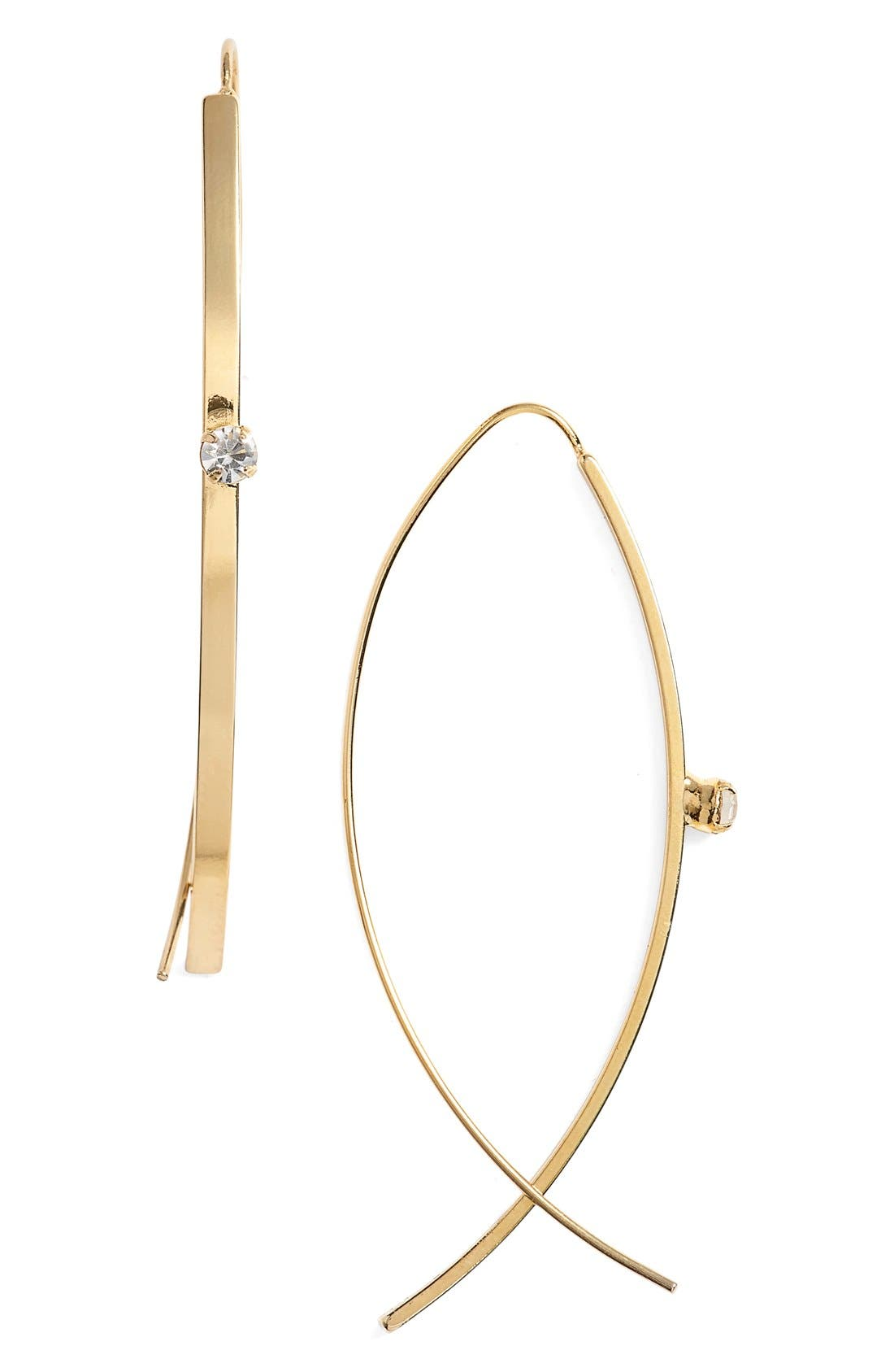 Main Image - Jules Smith Open Hoop and Pronged Bar Earrings