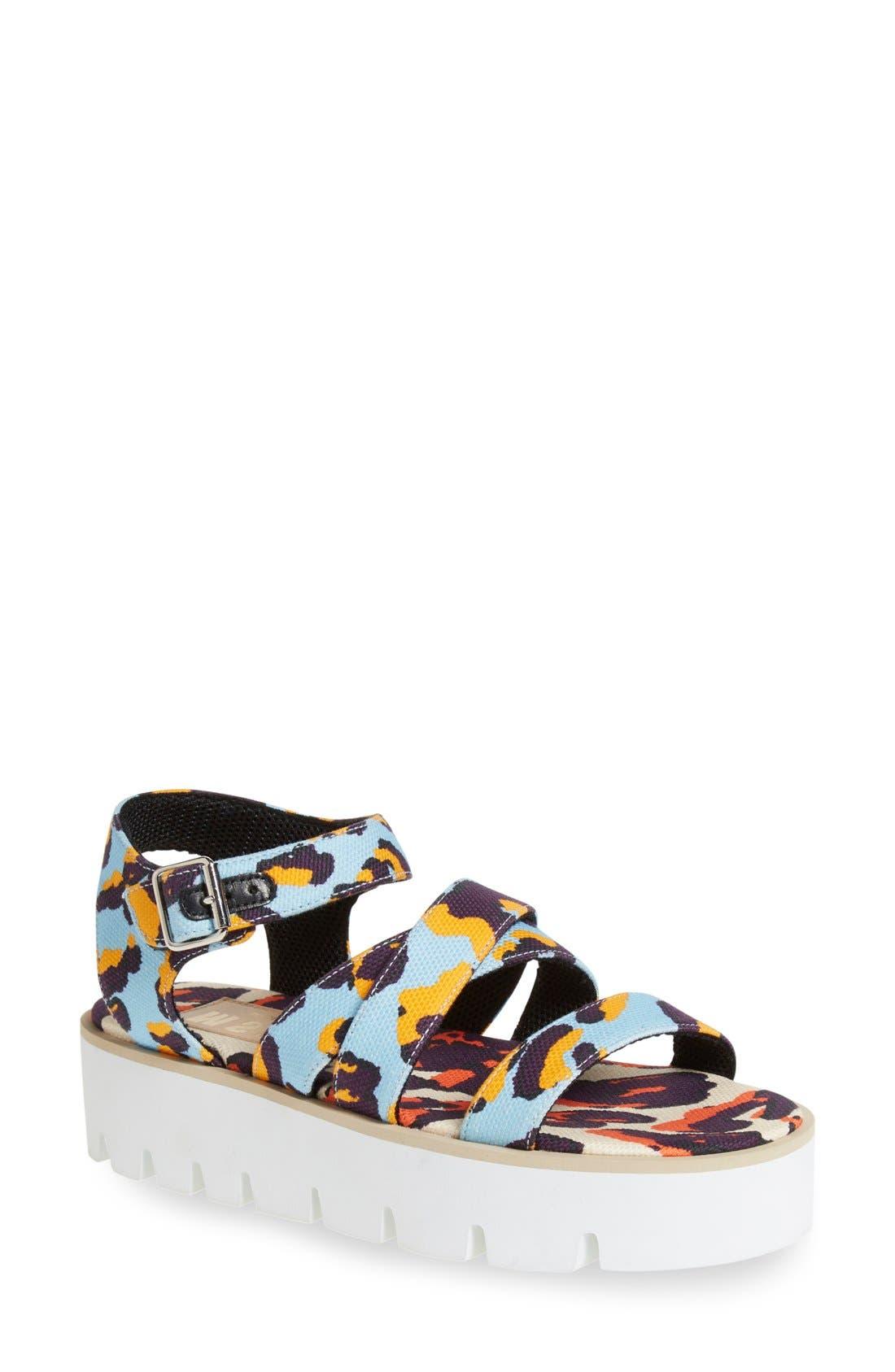 Alternate Image 1 Selected - MSGM Platform Sandal (Women)