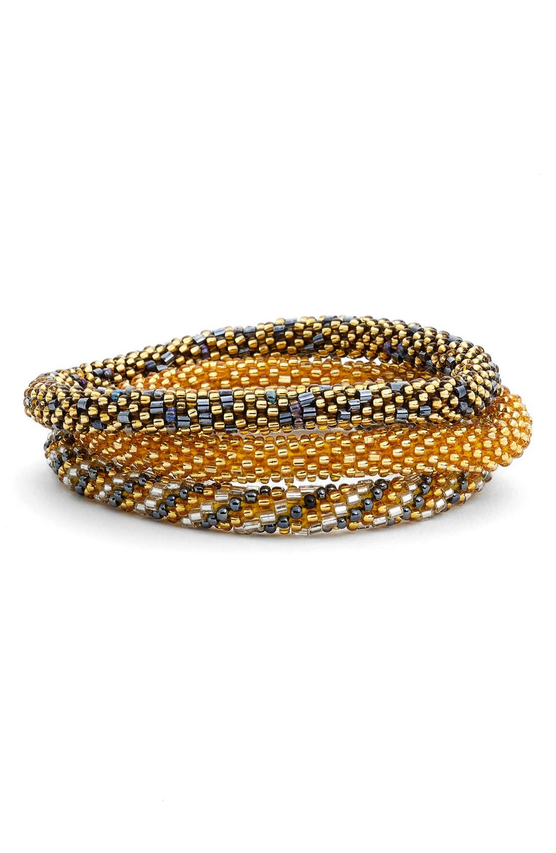 Alternate Image 1 Selected - Aid Through Trade Roll-On® Beaded Stretch Bracelets (Set of 3)