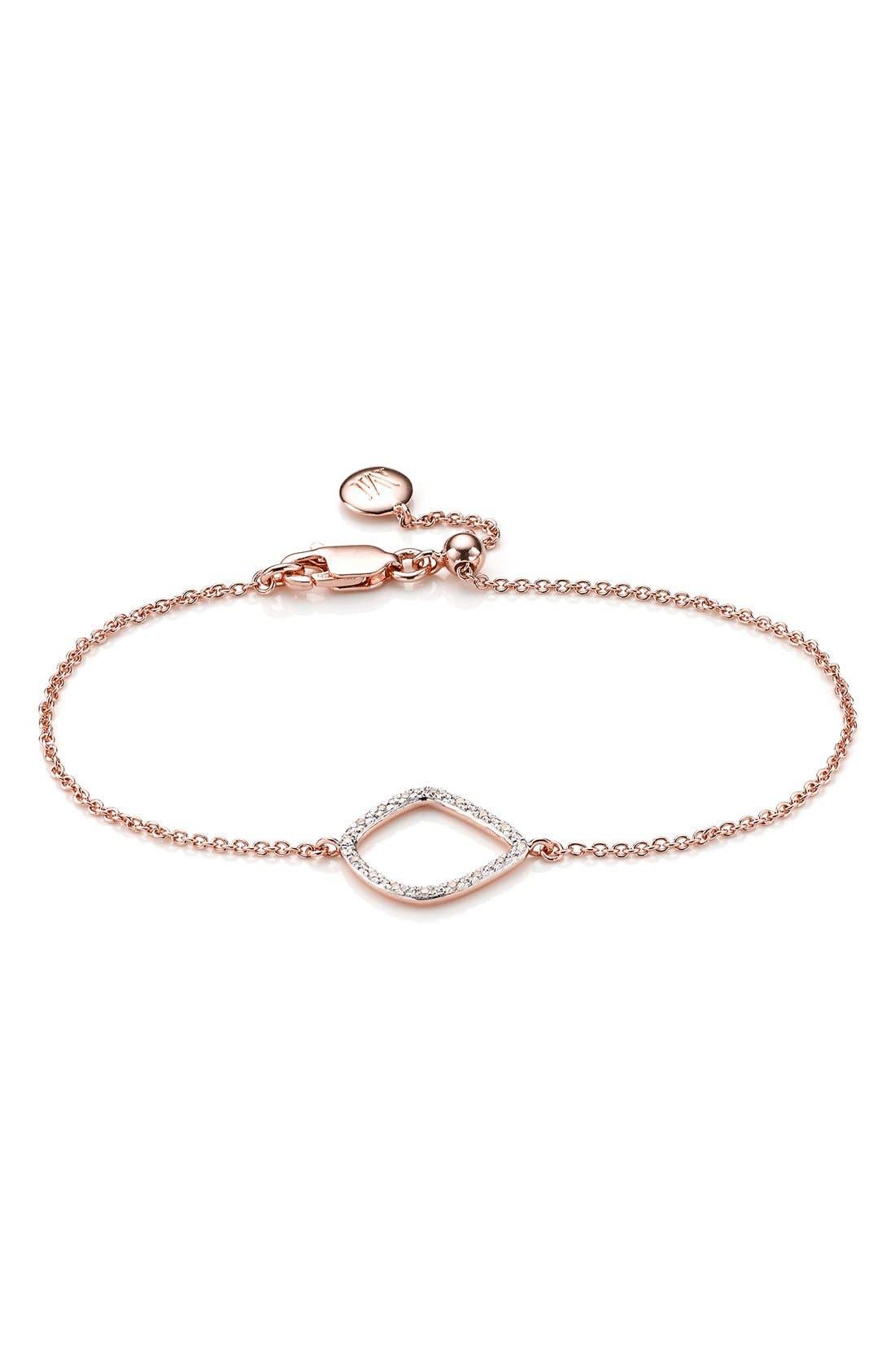 Main Image - Monica Vinader 'Riva' Diamond Charm Bracelet