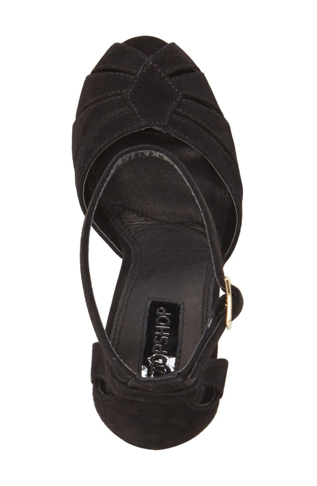 Alternate Image 3  - Topshop 'Sienna' Platform Peep Toe Sandal (Women)