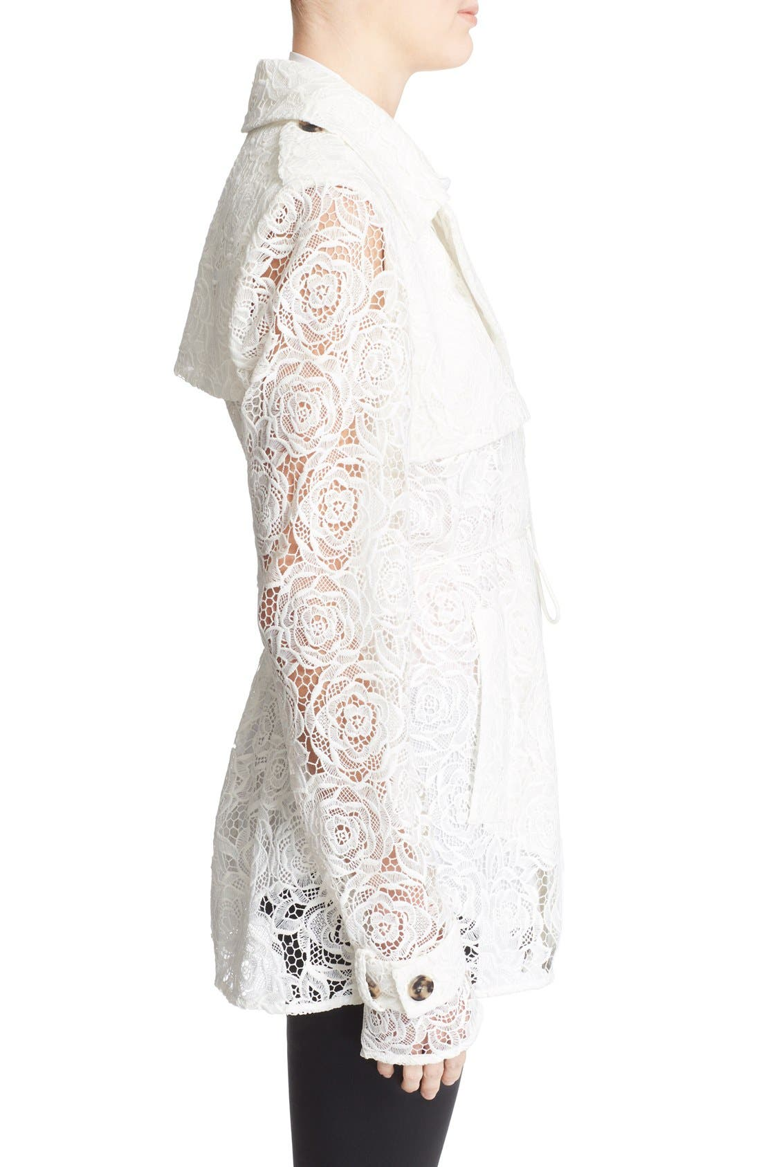 Alternate Image 3  - McQ Alexander McQueen Drawstring Floral Lace Trench