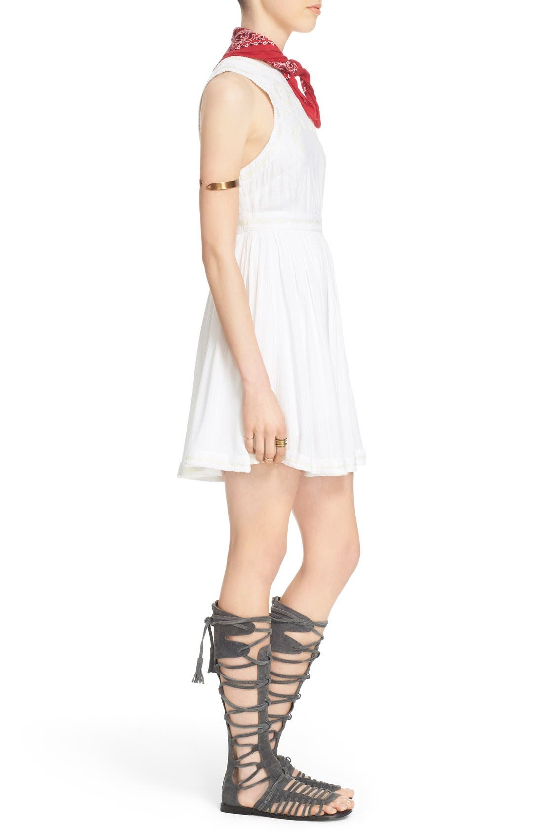 Alternate Image 4  - Free People 'Birds of a Feather' Embroidered Minidress