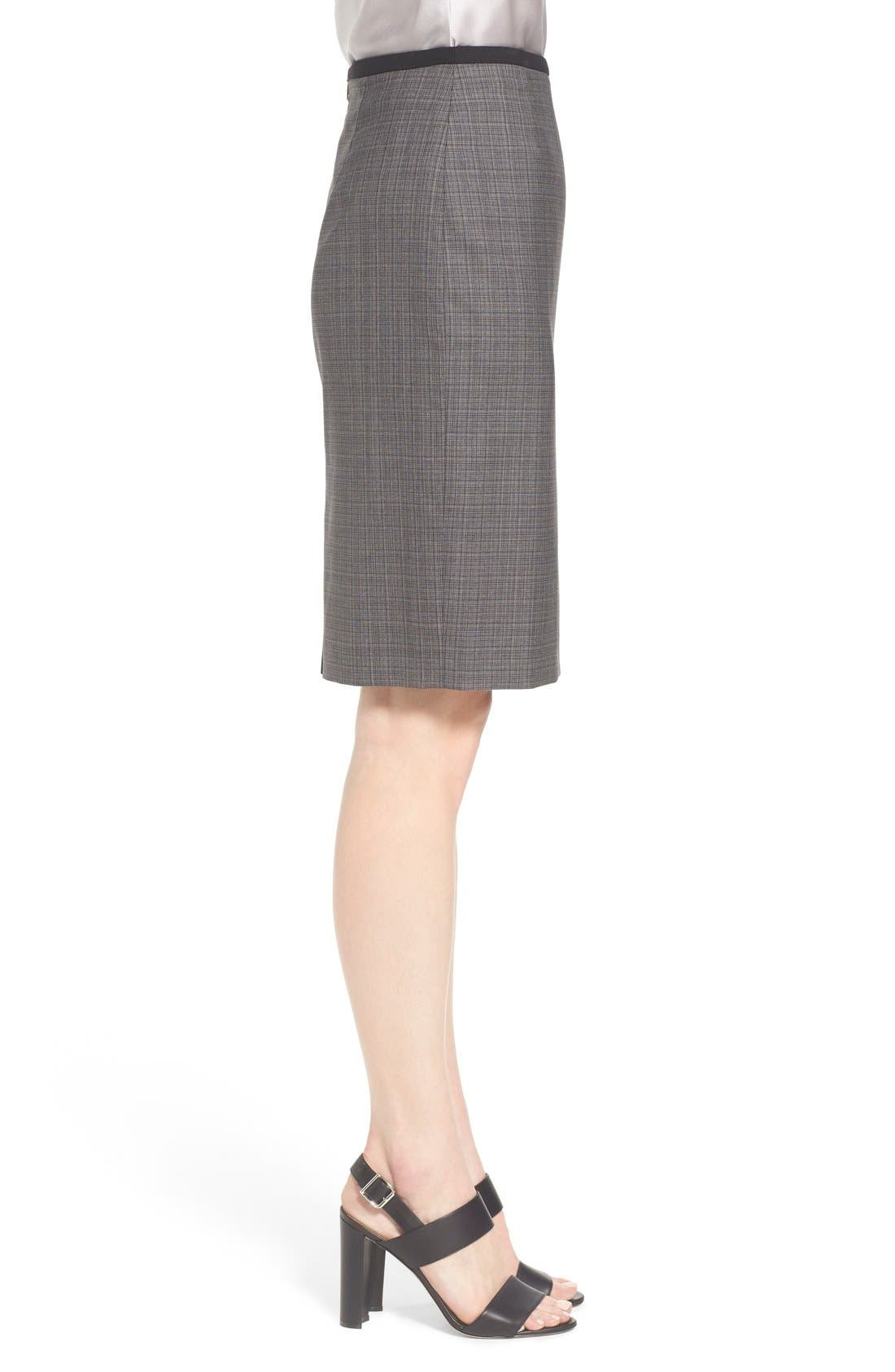 Alternate Image 4  - BOSS 'Vanya' Check Stretch Wool Suit Skirt
