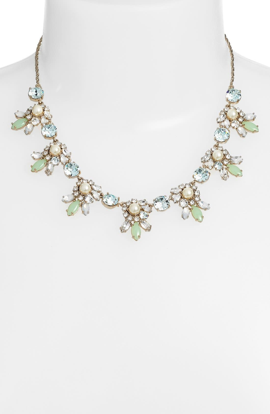 Alternate Image 2  - Marchesa Crystal Cluster Bib Necklace