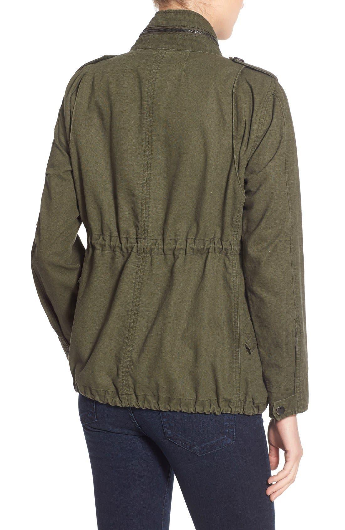 Alternate Image 2  - Pleione Linen & Cotton Blend Military Jacket (Regular & Petite)