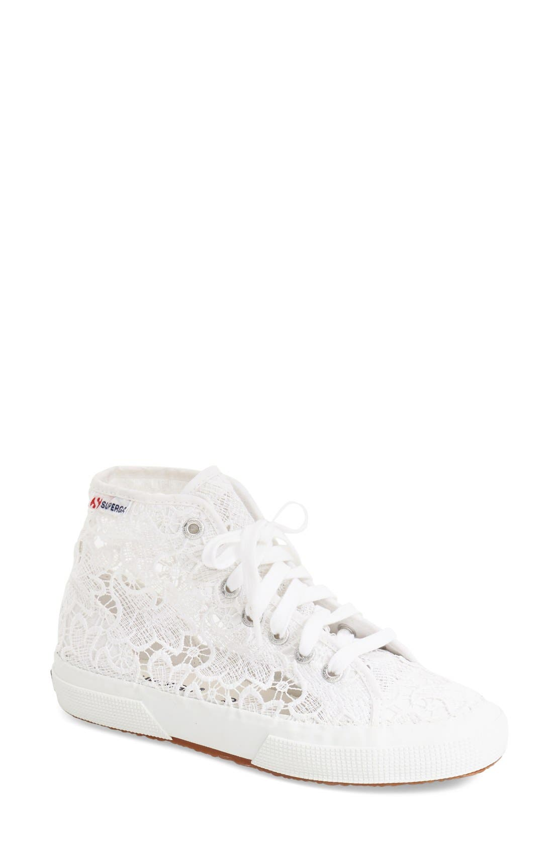 Alternate Image 1 Selected - Superga 'Macramew' High Top Sneaker (Women)