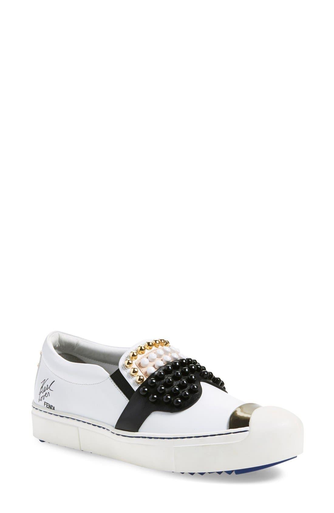 Alternate Image 1 Selected - Fendi 'Karlito' Slip-On Sneaker (Women)