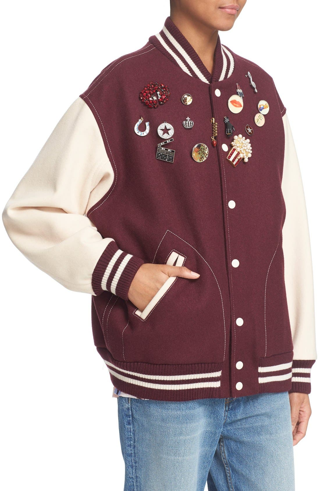 Alternate Image 6  - MARC JACOBS Embellished Varsity Jacket