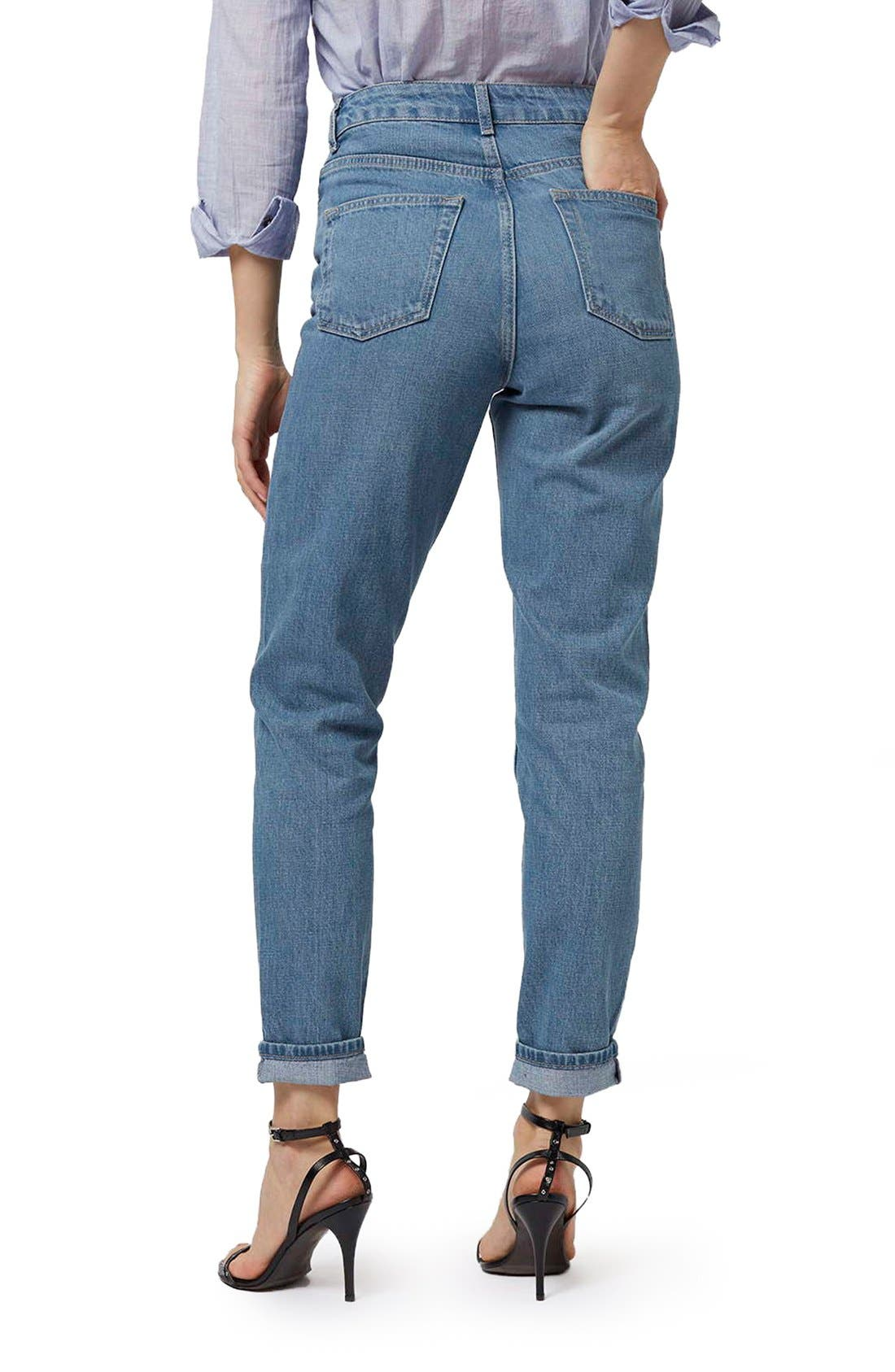 Alternate Image 3  - Topshop High Rise Mom Jeans