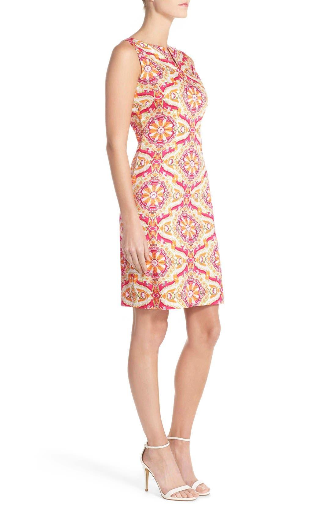 Alternate Image 3  - Chetta B Print Sateen Sheath Dress