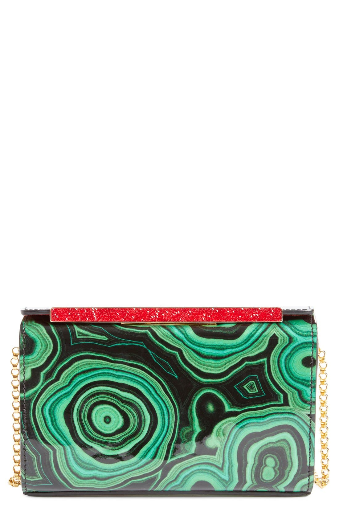 Main Image - Christian Louboutin 'Vanité' Printed Leather Clutch