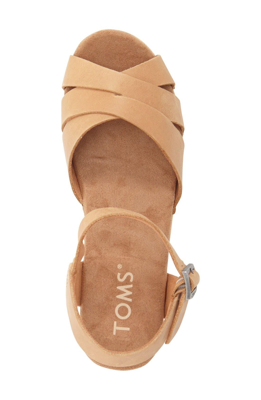 Alternate Image 3  - TOMS 'Beatrix' Leather Sandal (Women)