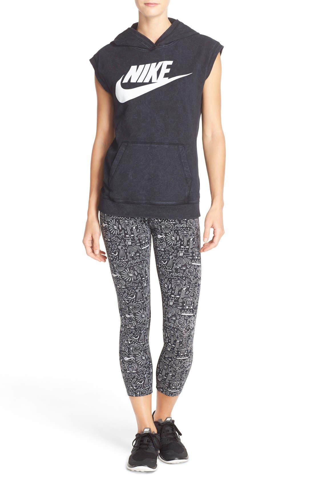Alternate Image 5  - Nike 'Leg-A-See' Print Crop Leggings
