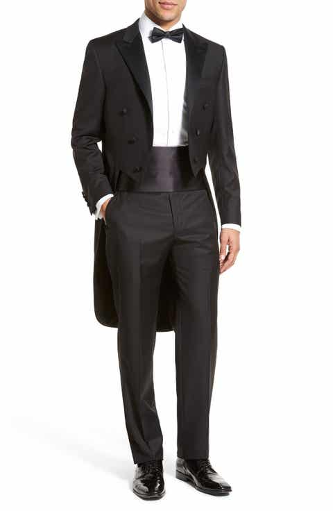 Hickey Freeman Classic Fit Tasmanian Wool Tailcoat Tuxedo