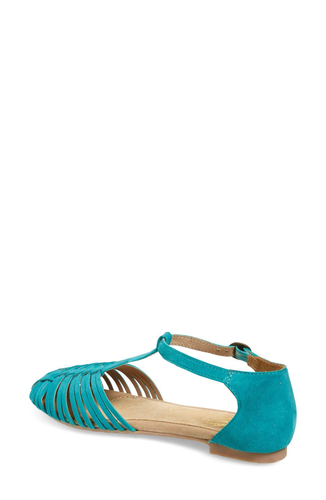 Alternate Image 2  - Seychelles 'Into Thin Air' Leather Huarache Flat Sandal (Women)