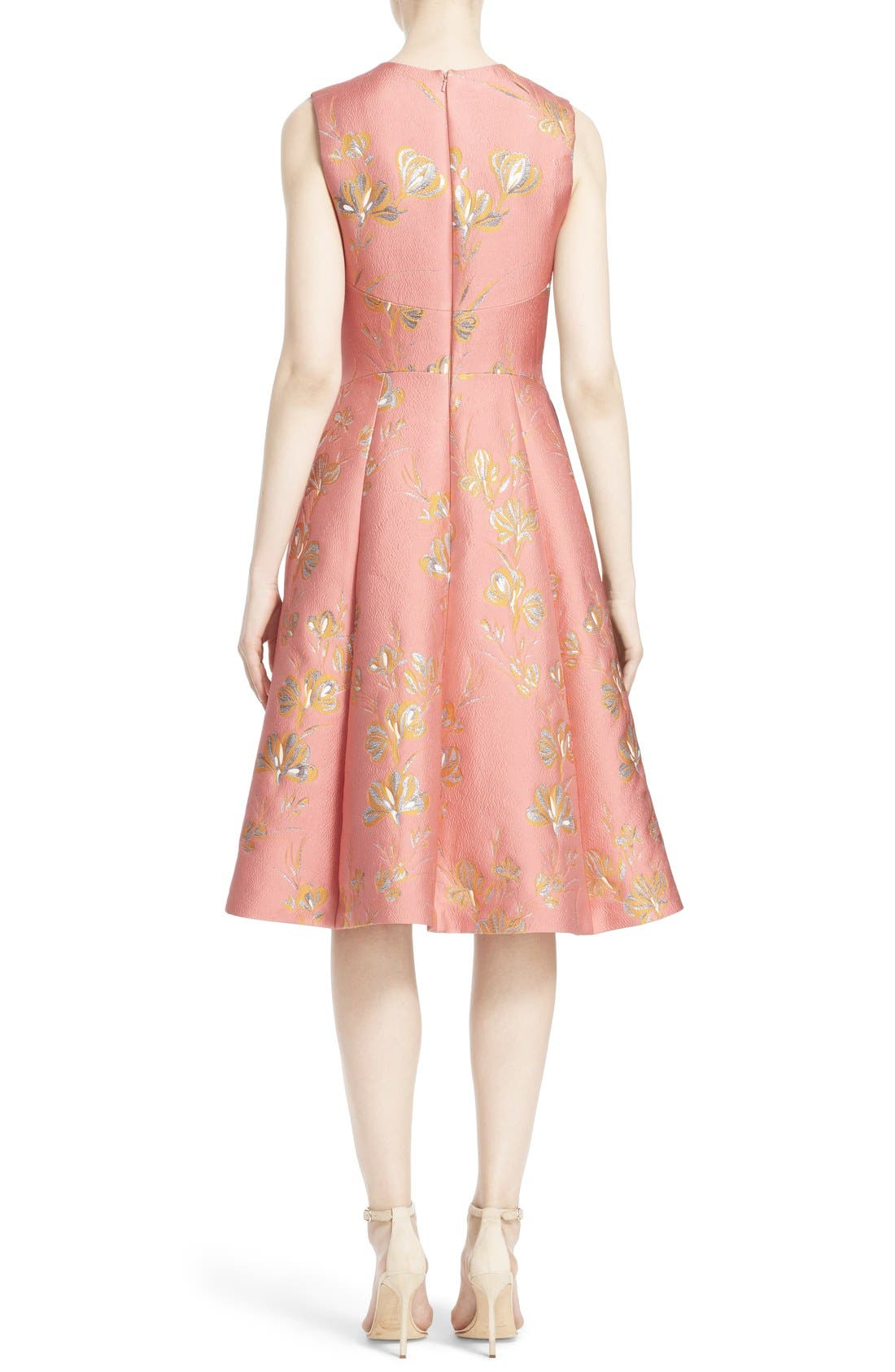 Alternate Image 2  - Lela Rose Vine Jacquard Fit & Flare Dress