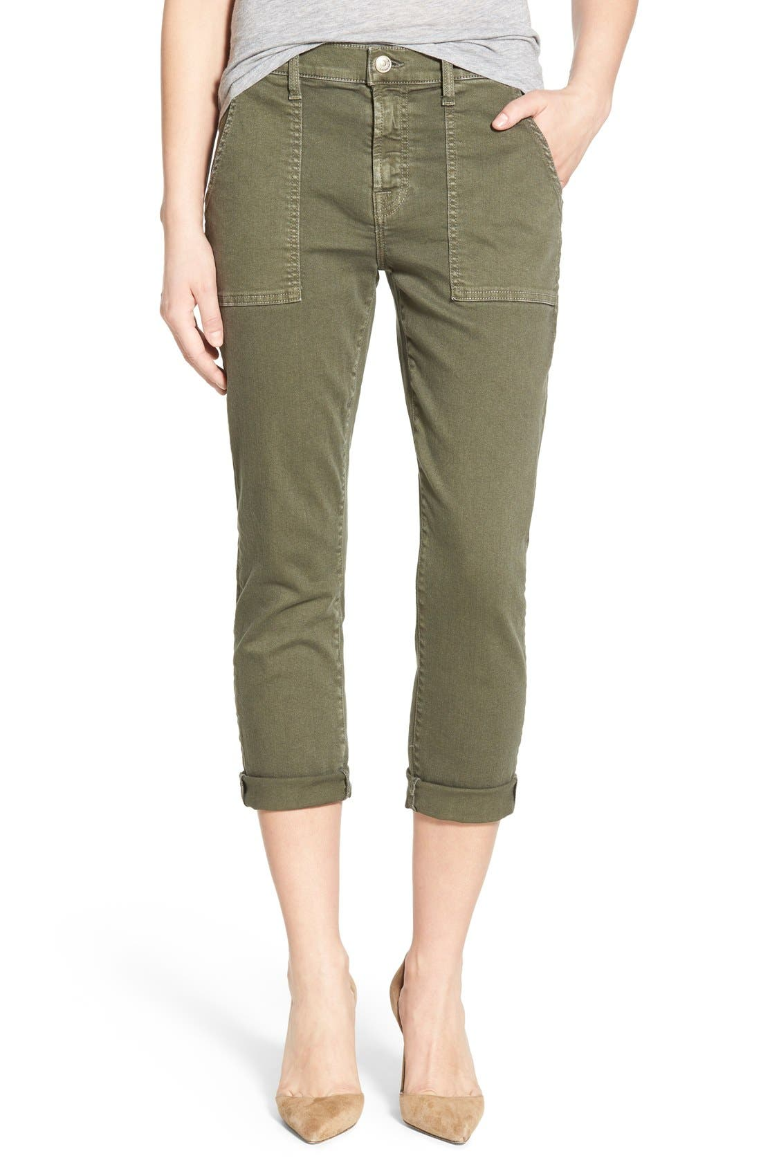 Main Image - 7 For All Mankind® Crop Slim Boyfriend Military Pants