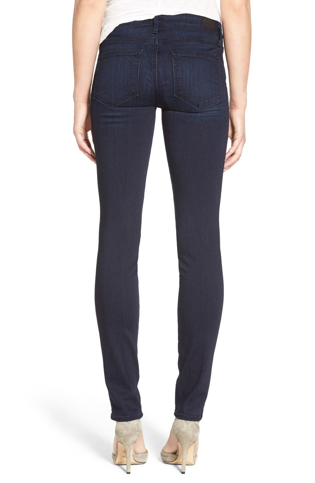 Alternate Image 2  - PAIGE 'Skyline' Skinny Jeans (Everdeen) (Nordstrom Exclusive)