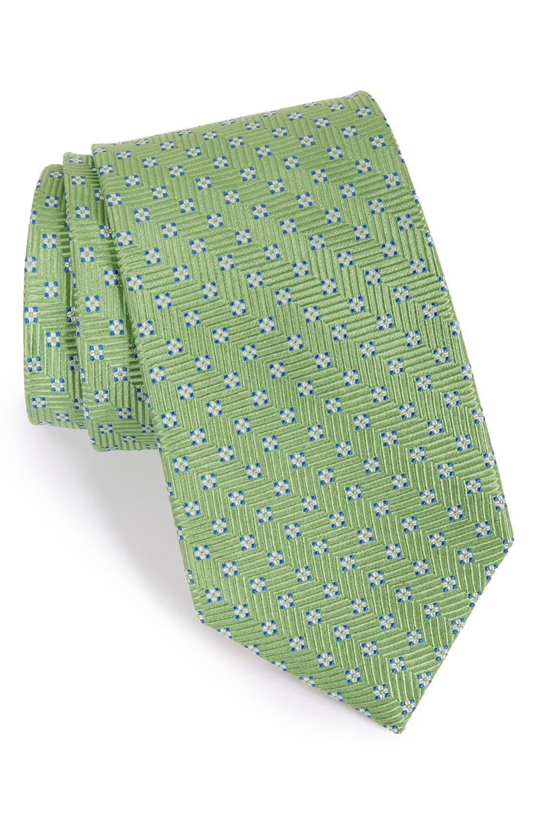 Nordstrom Men's Shop Chevron & Floral Medallion Tie (X-Long)