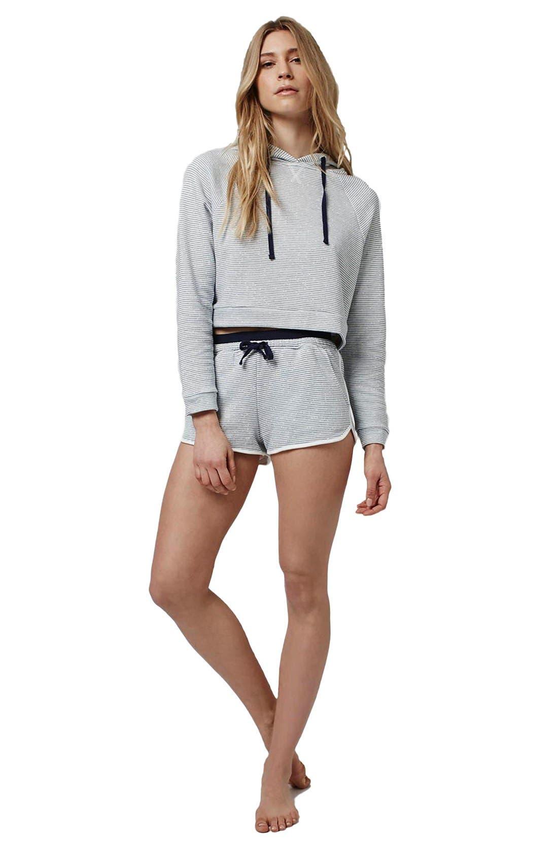 Alternate Image 2  - Topshop Stripe Contrast Waist Pajama Shorts (Petite)