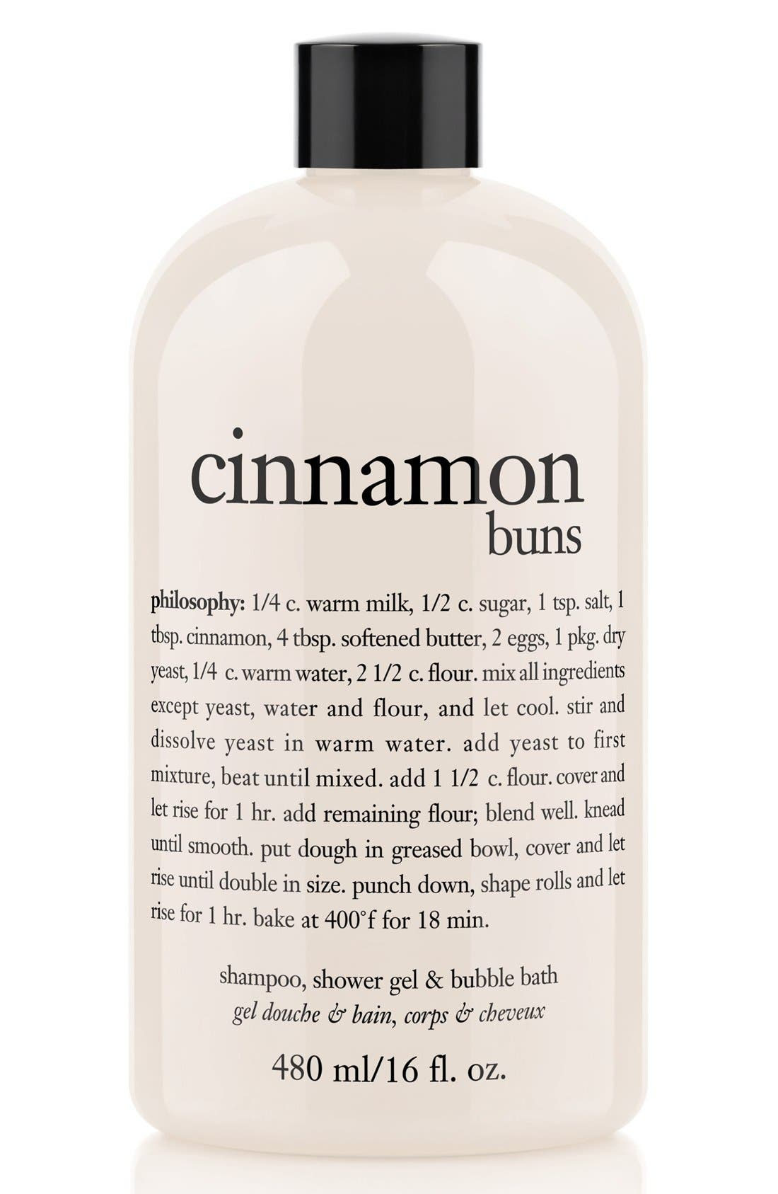 philosophy 'cinnamon buns' shampoo, shower gel & bubble bath