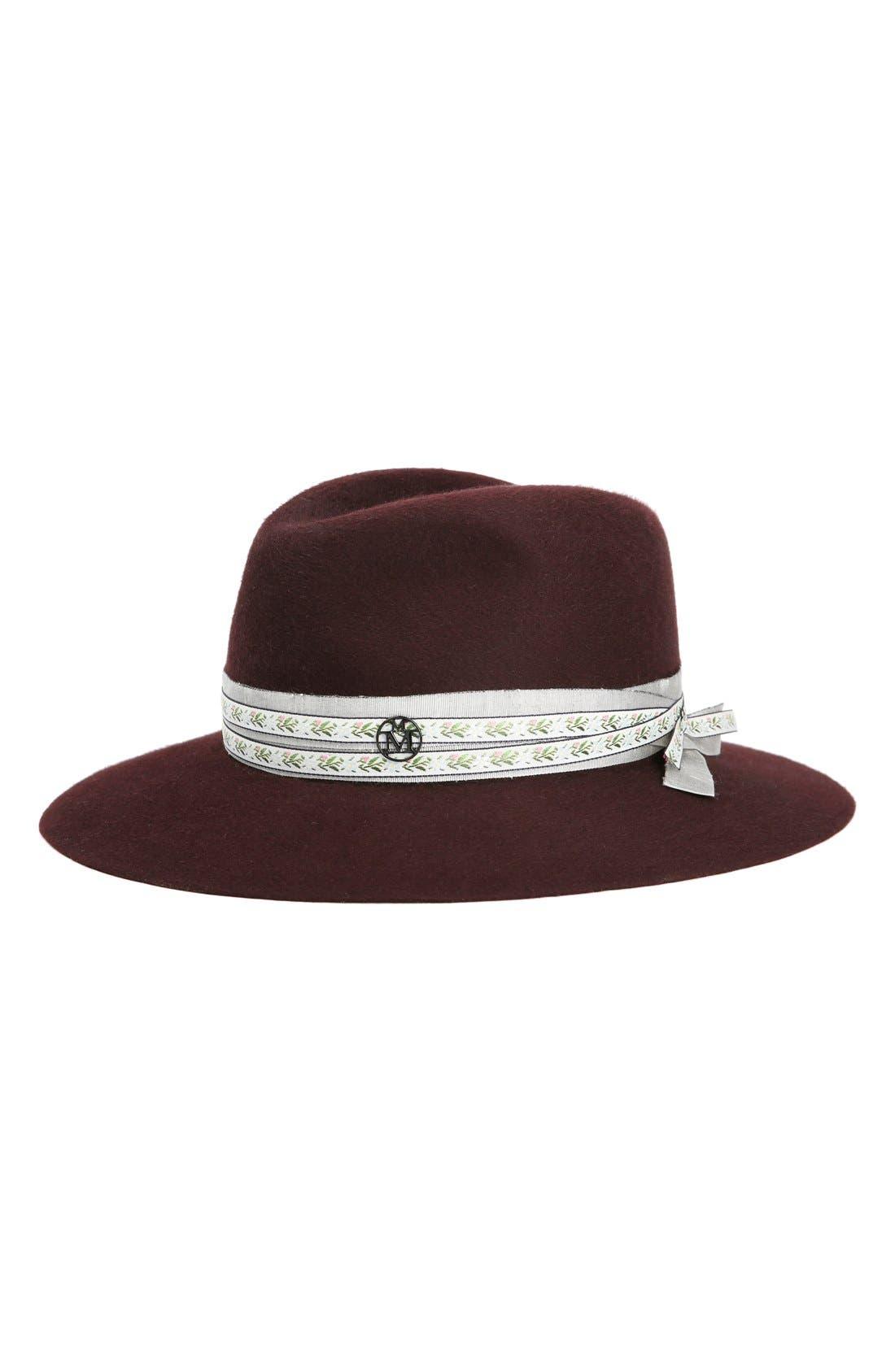 MAISON MICHEL 'Henrietta' Genuine Fur Felt Hat