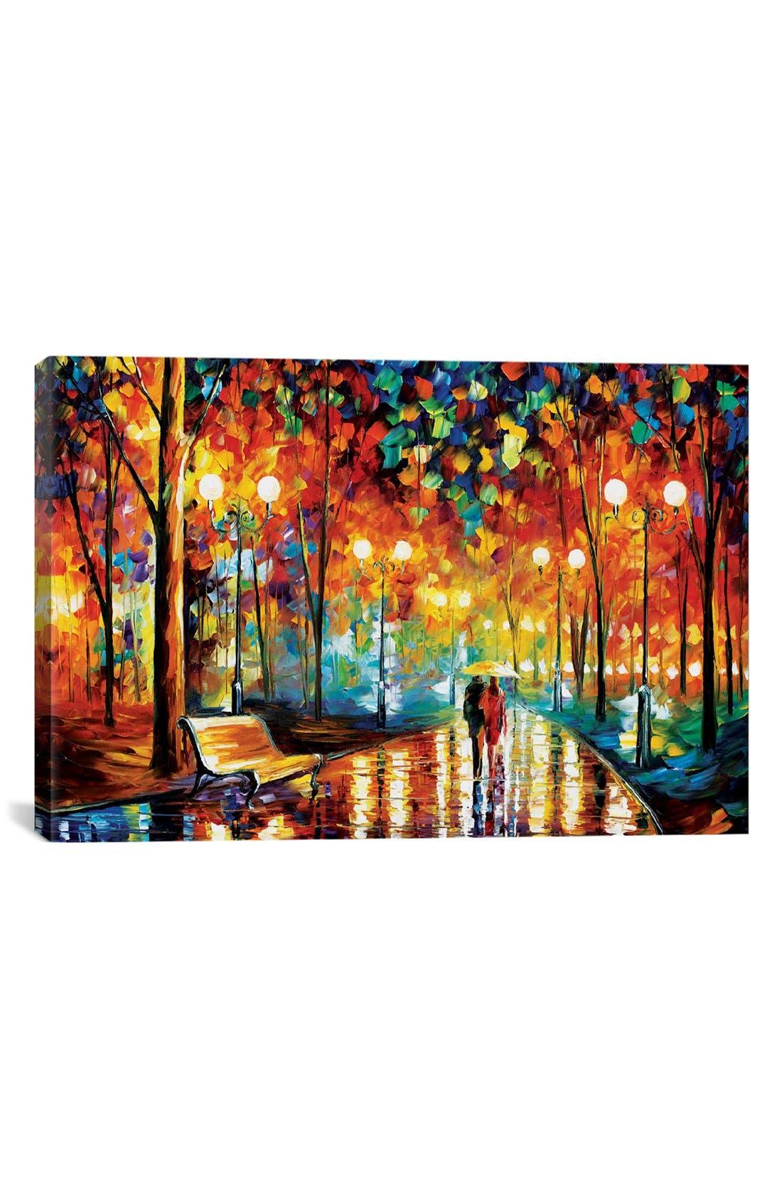 Main Image - iCanvas 'Rains Rustle II - Streets of Paris' Giclée Print Canvas Art
