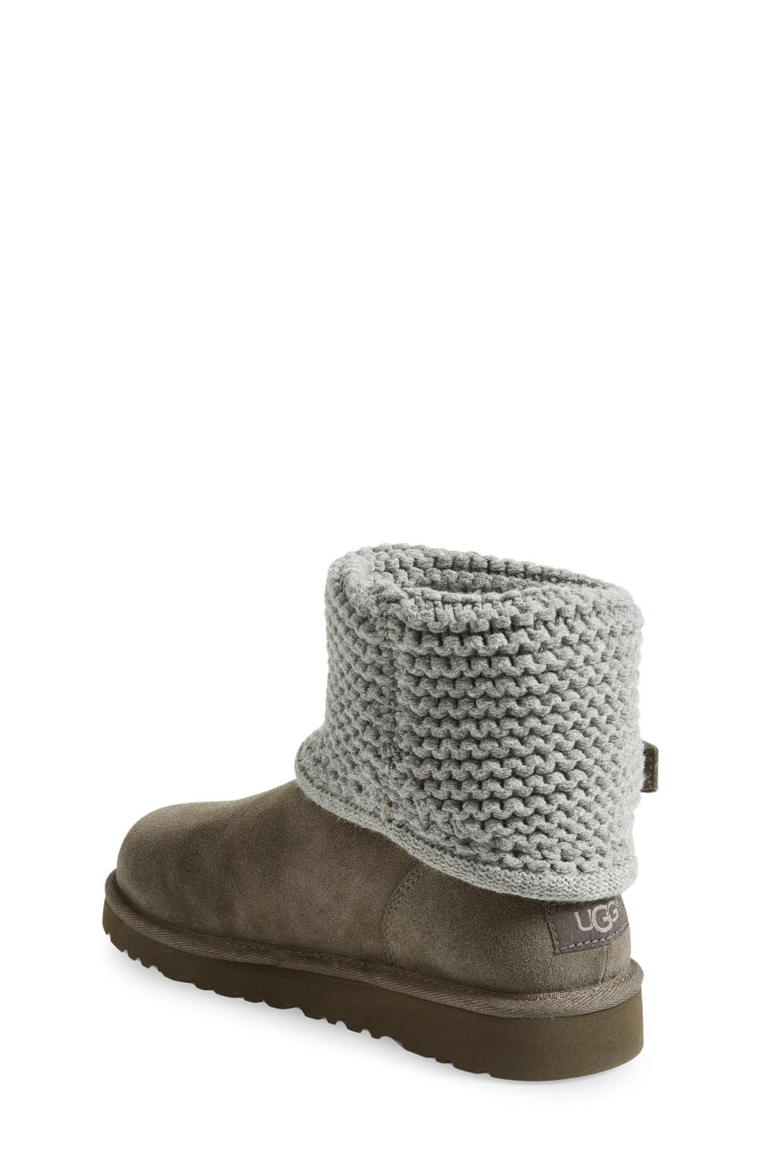 Alternate Image 2  - UGG® Darrah Purl Knit Cuff Boot (Little Kid & Big Kid)