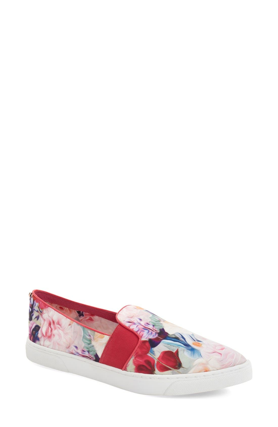 Alternate Image 1 Selected - Ted Baker London 'Thfia' Floral Pointy Toe Slip-On Sneaker (Women)