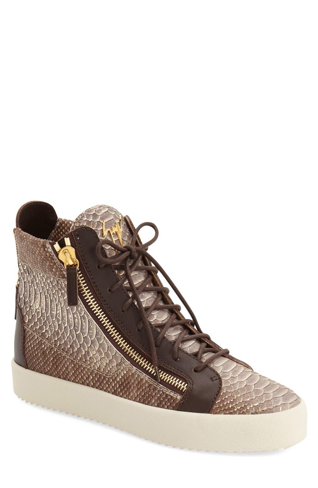GIUSEPPE ZANOTTI Embossed High Top Sneaker