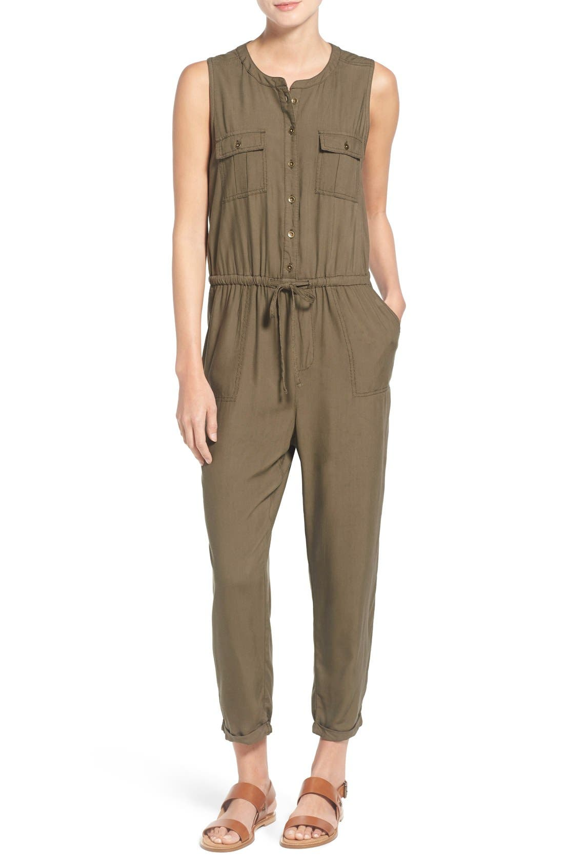 CASLON® Sleeveless Utility Jumpsuit