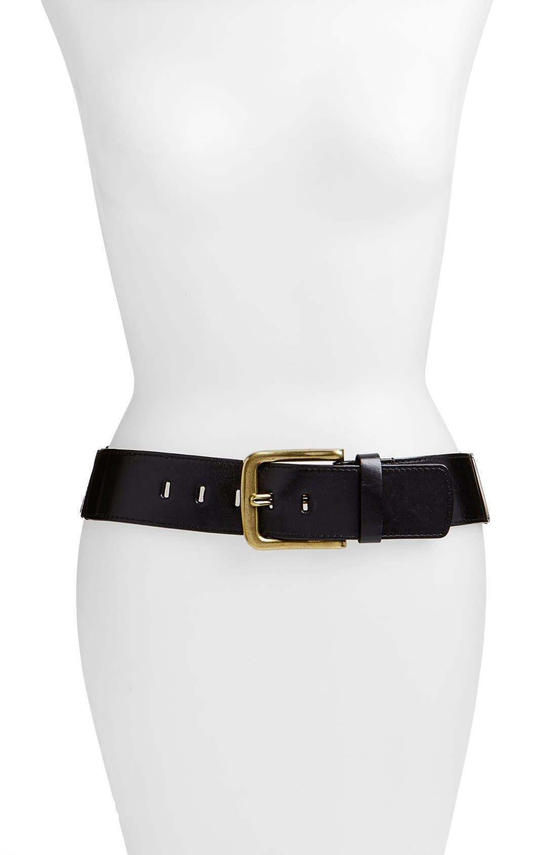 Alternate Image 1 Selected - Elise M. 'Sheila' Leather Belt
