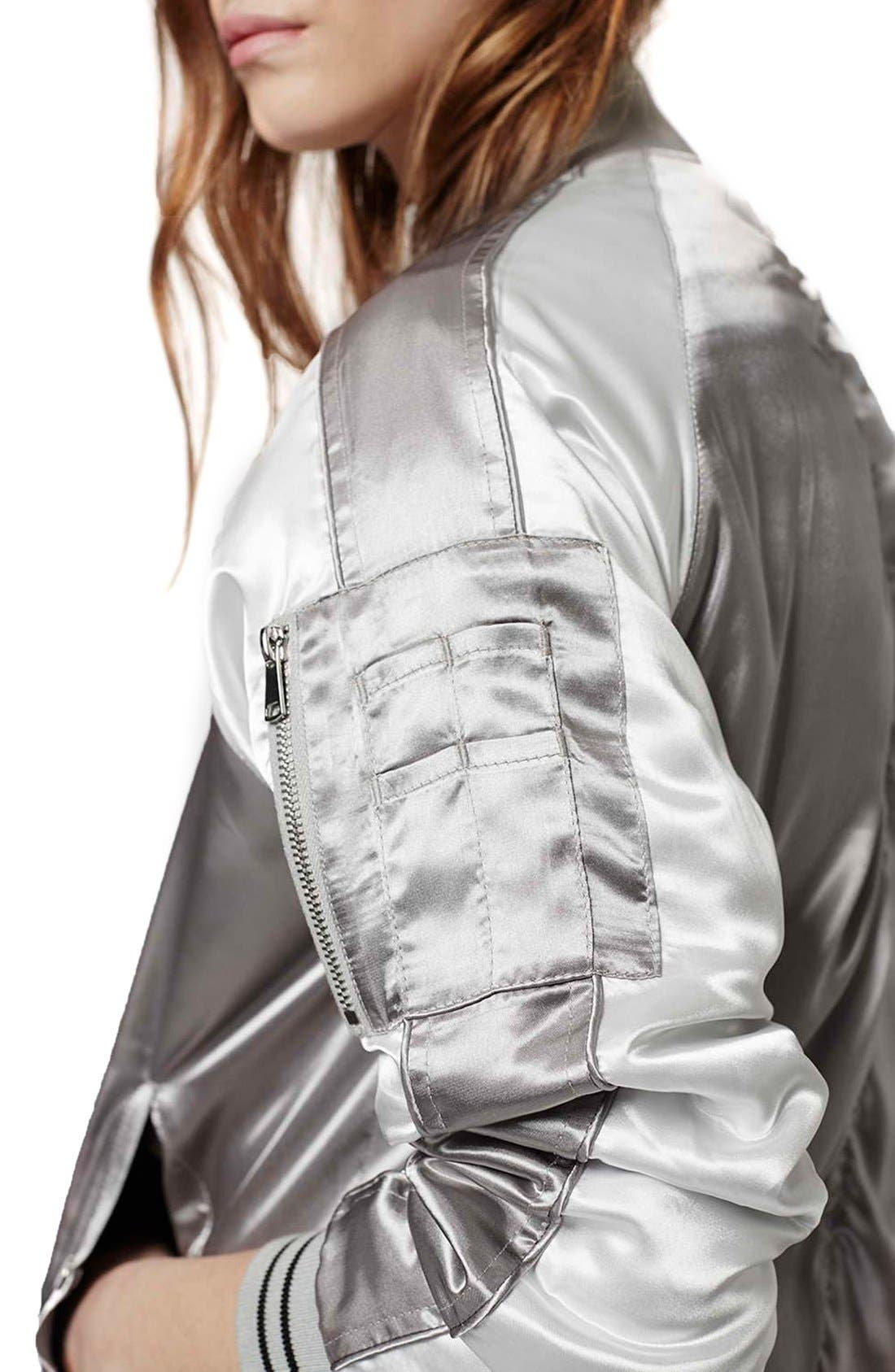Alternate Image 4  - Topshop Sateen MA-1 Bomber Jacket