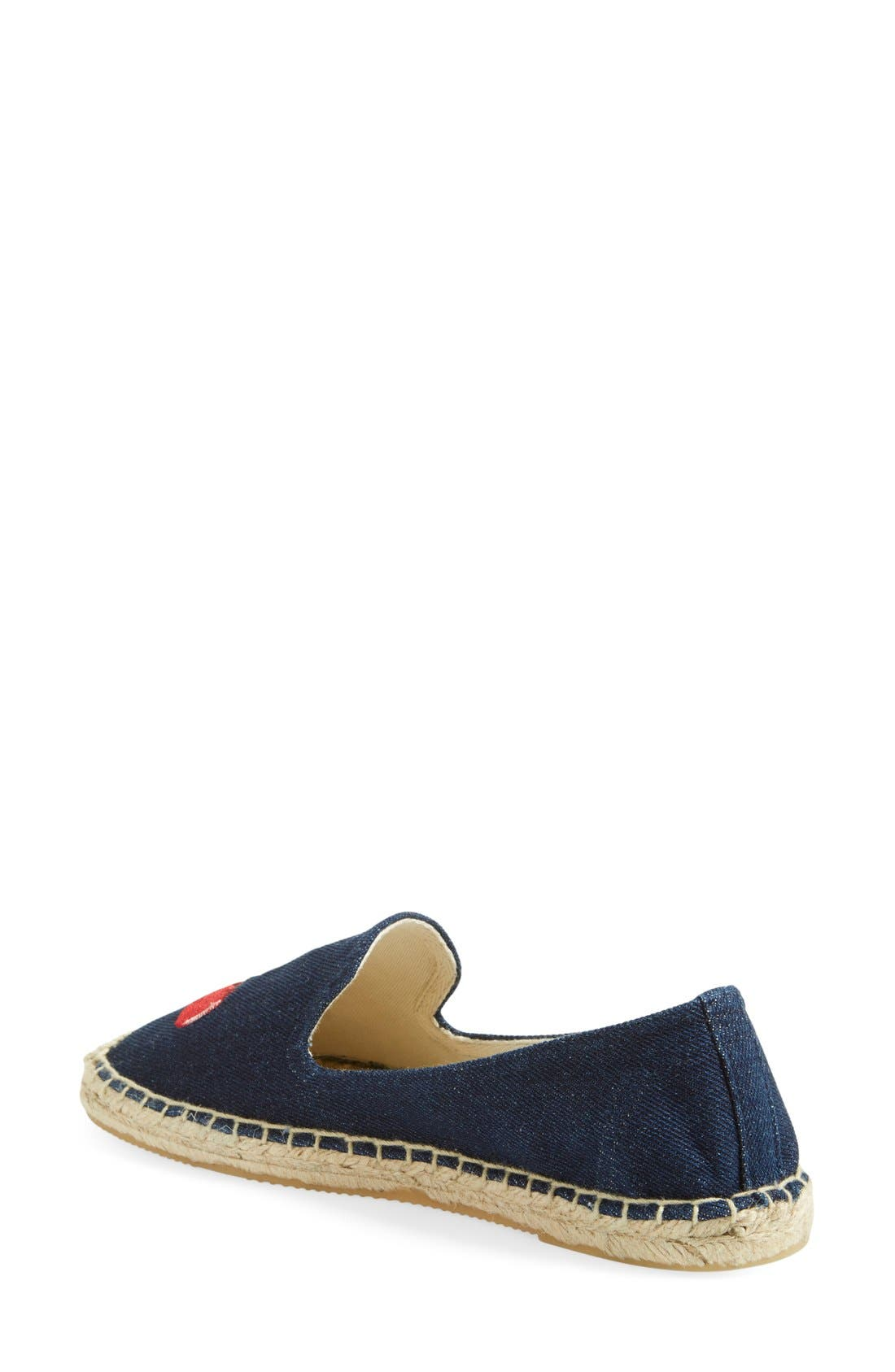 Alternate Image 3  - Soludos 'Cherries' Embroidered Espadrille Slip-On (Women)