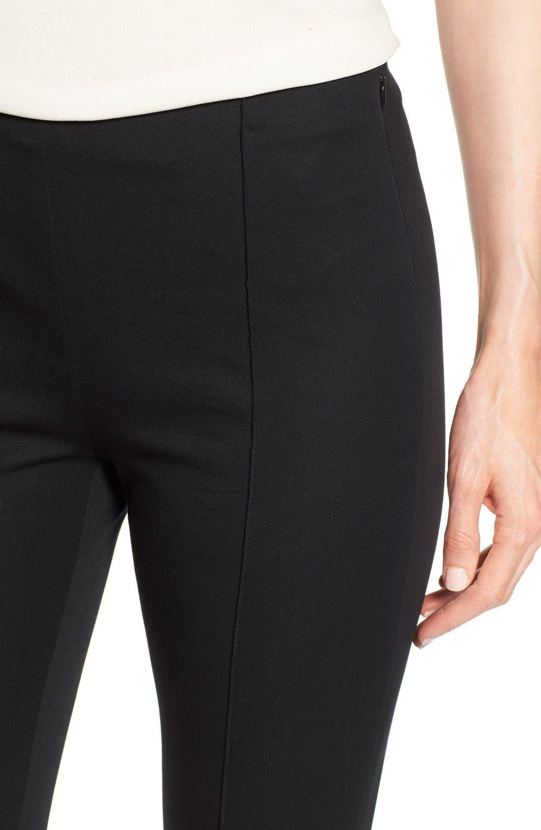 Alternate Image 4  - MICHAEL Michael Kors 'Hutton' Ankle Zip Slim Pintuck Pants (Petite)
