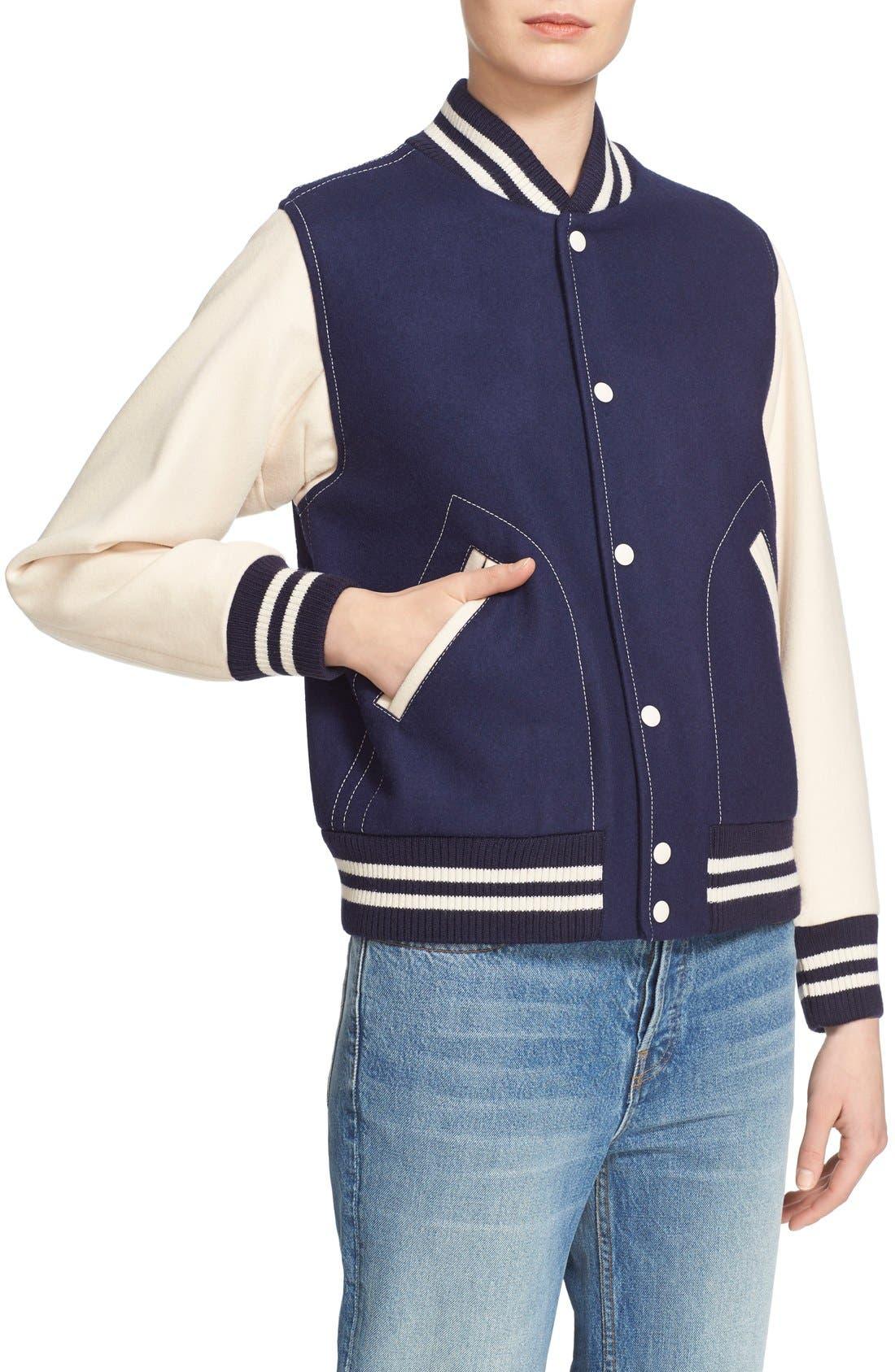 Alternate Image 6  - MARC JACOBS Shrunken Varsity Jacket