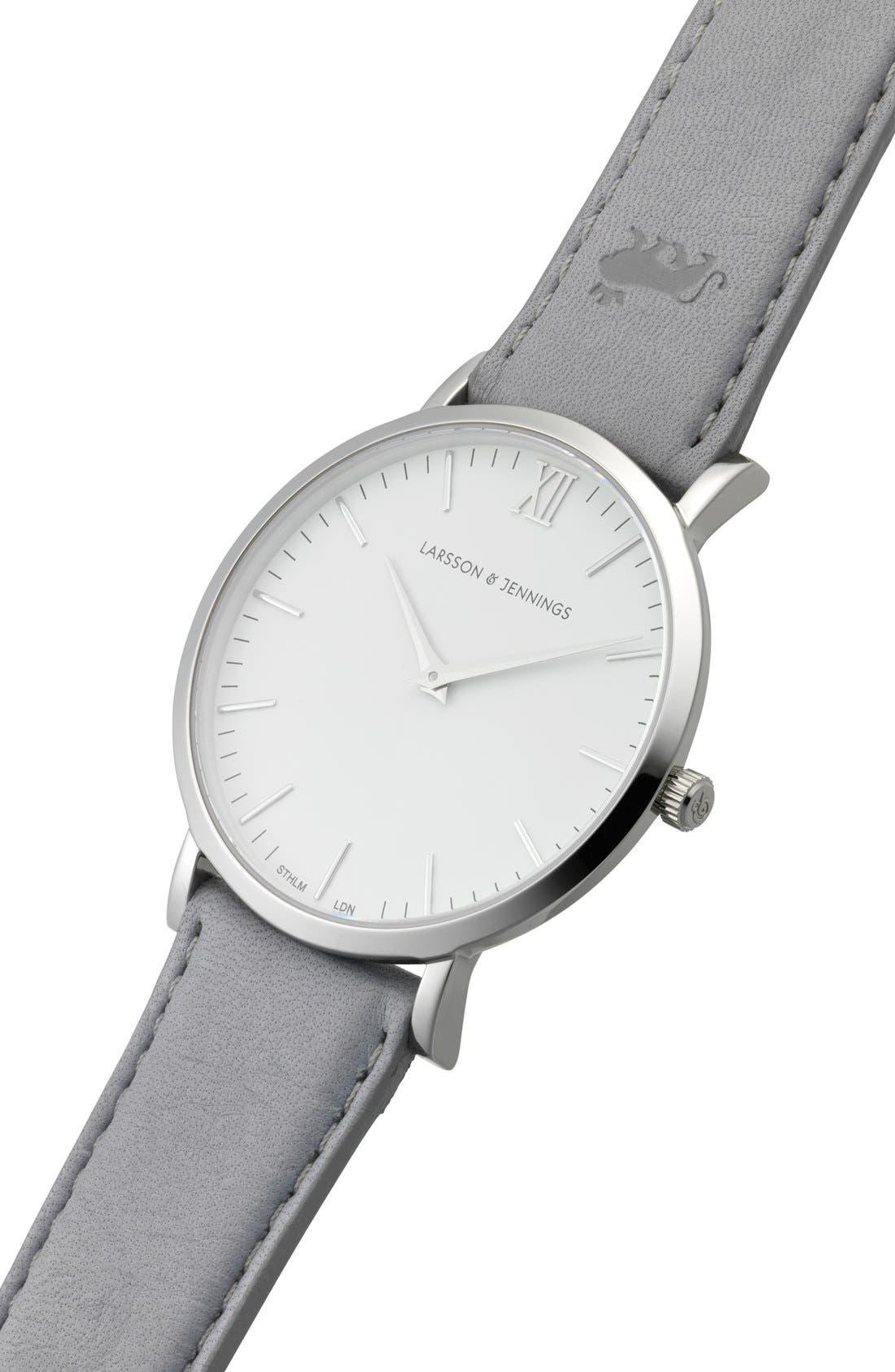 Alternate Image 5  - Larsson & Jennings 'Lugano' Leather Strap Watch, 40mm