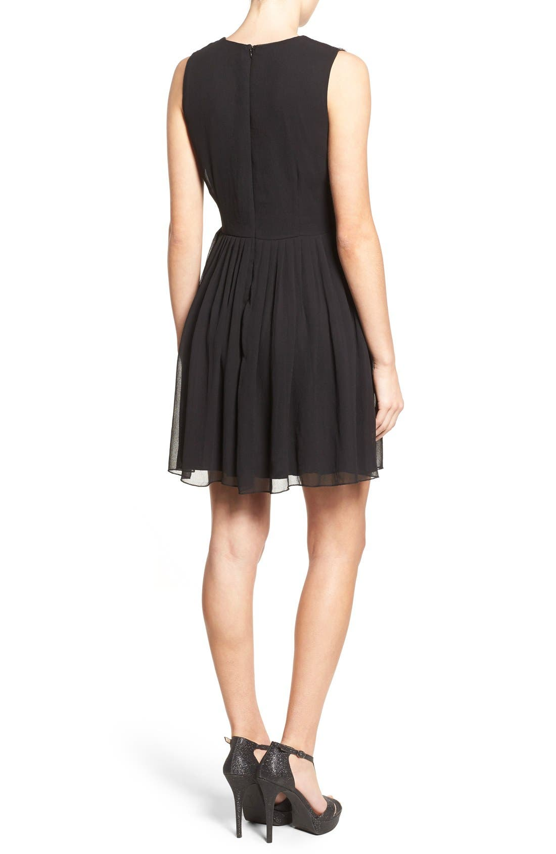 Alternate Image 2  - Lace & Beads 'Becky' Embellished Skater Dress