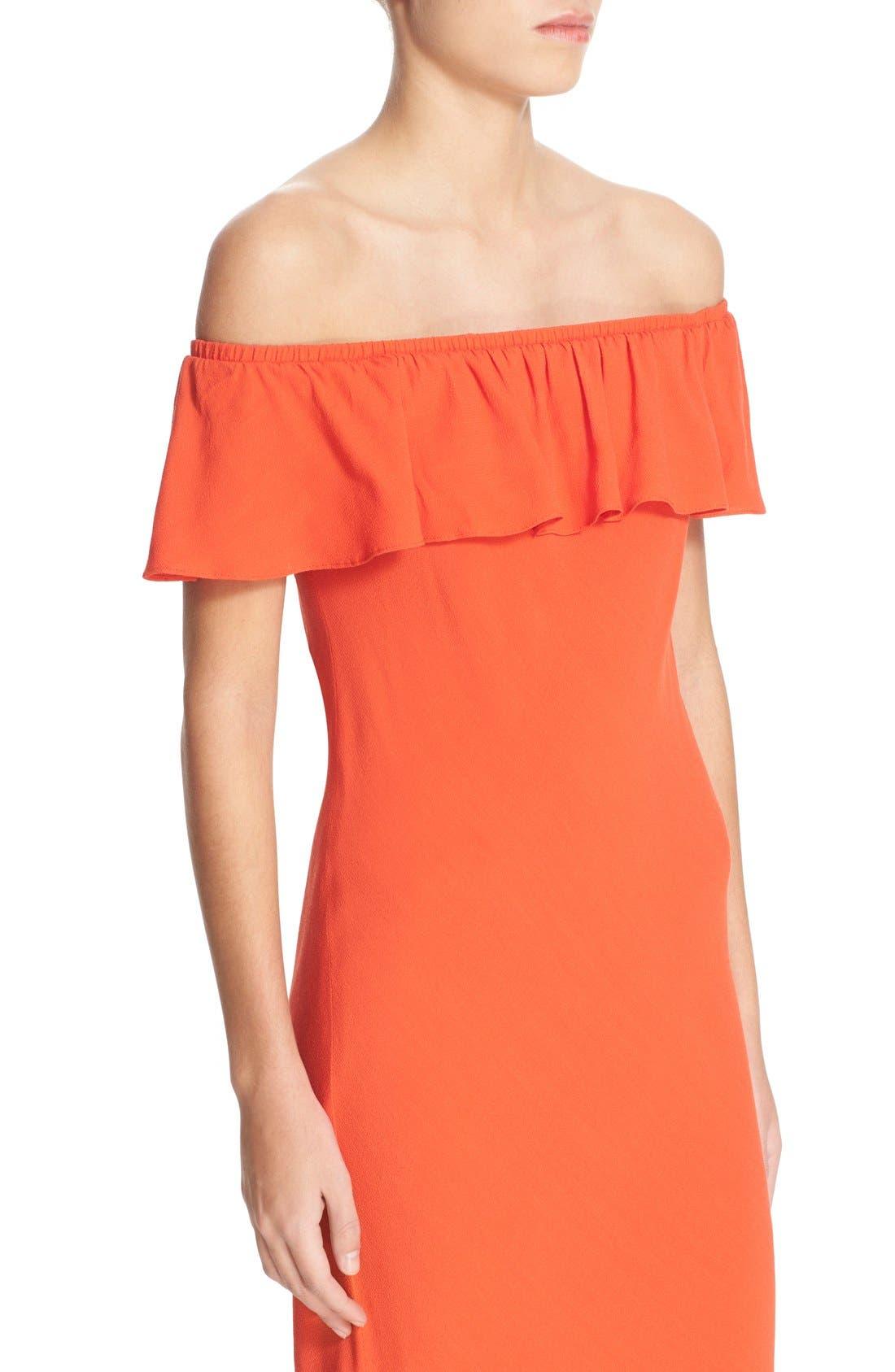 Alternate Image 4  - Veronica Beard 'Oleta' Ruffle Off the Shoulder Dress