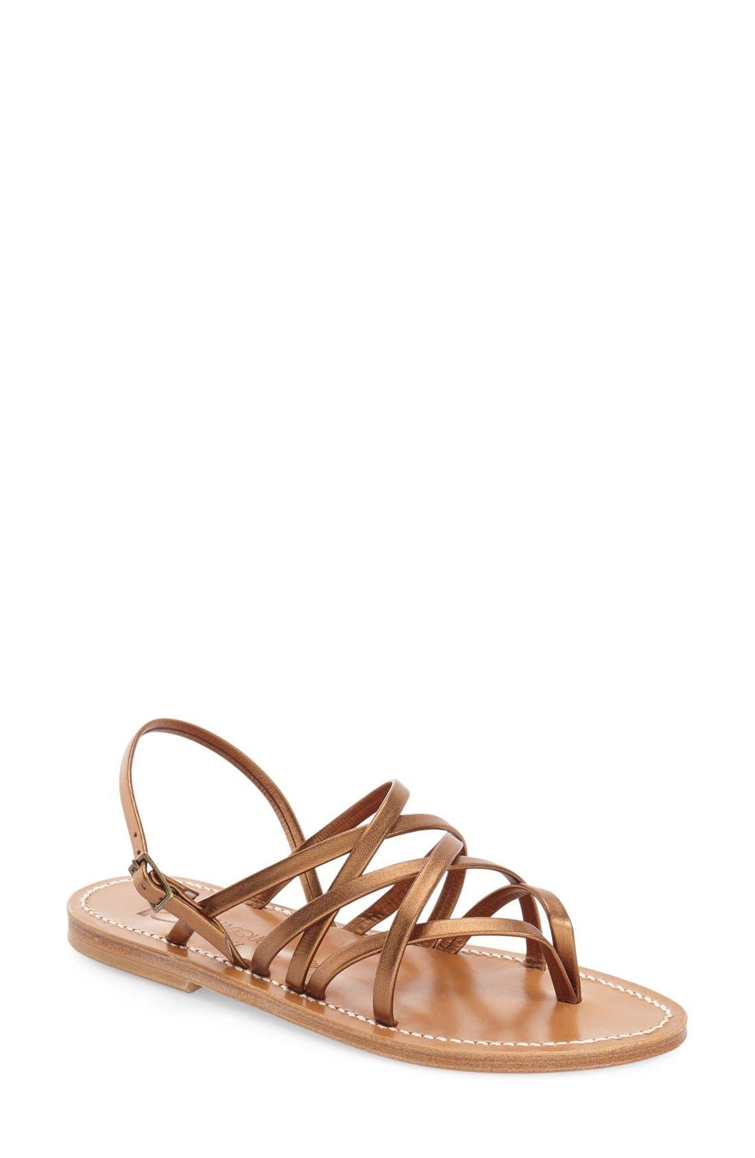 Alternate Image 1 Selected - K.Jacques St. Tropez Strappy Flat Sandal (Women)