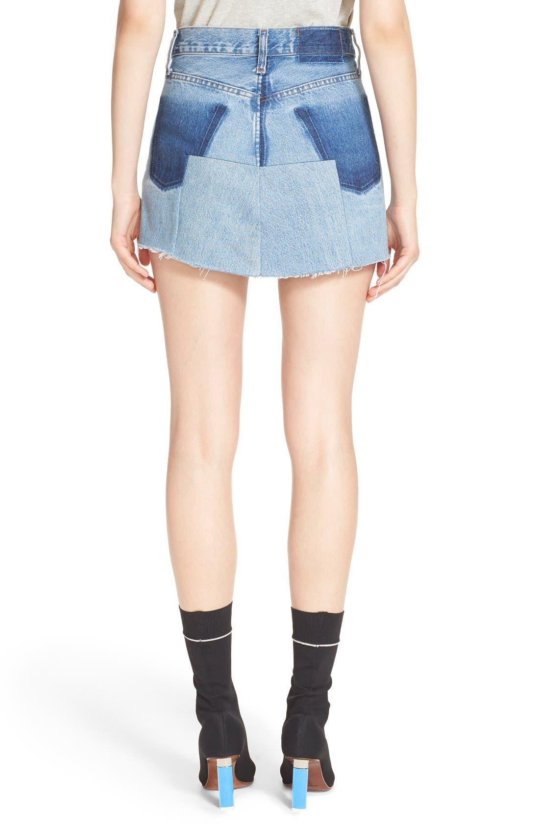 Alternate Image 2  - Vetements Denim Mini Skirt