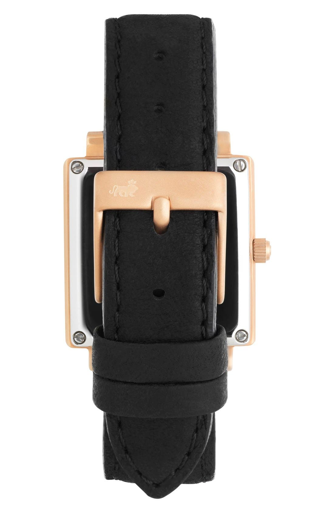 Alternate Image 2  - Larsson & Jennings 'Norse' Square Leather Strap Watch, 27mm x 34mm
