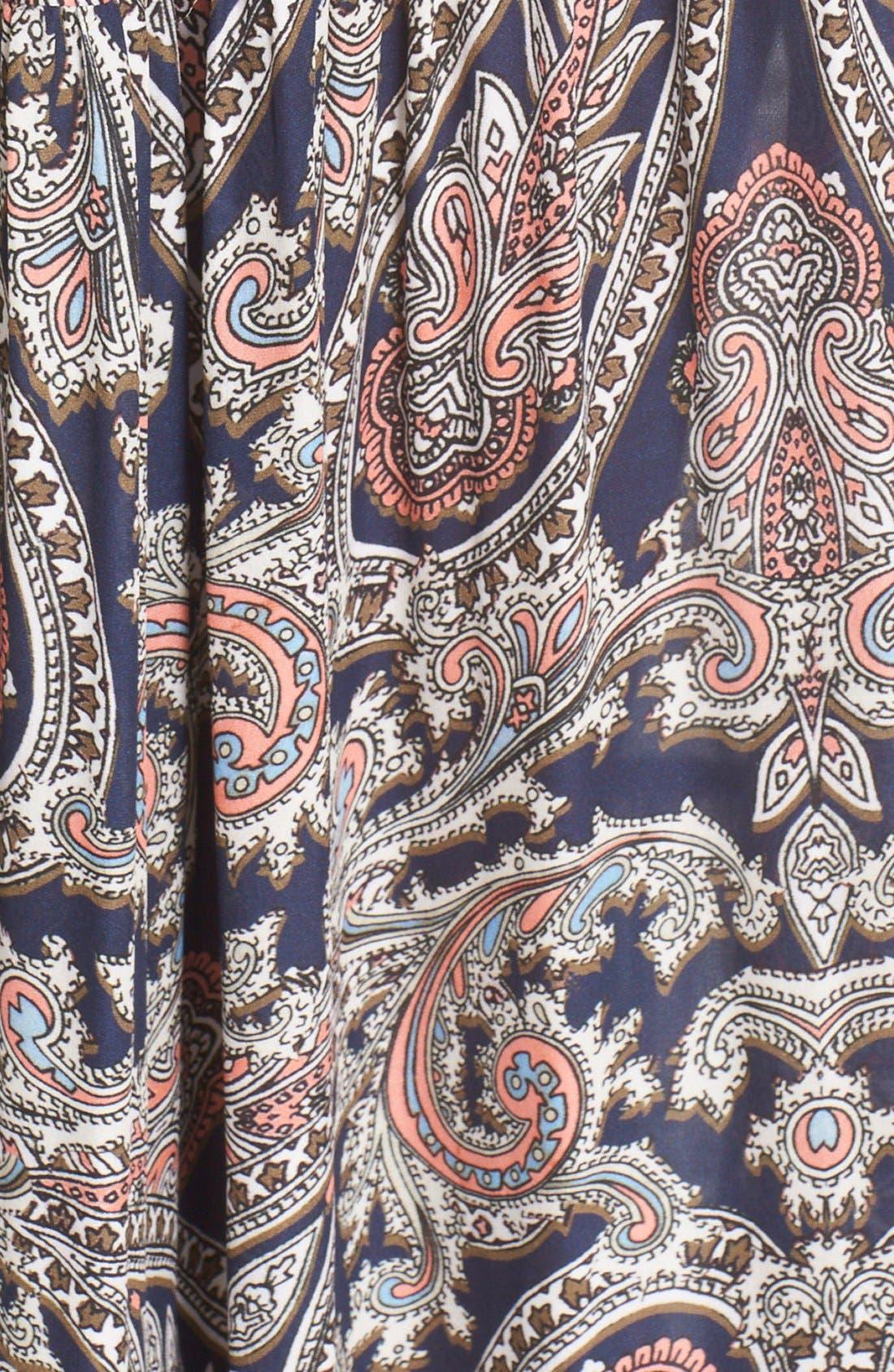 Alternate Image 5  - L'AGENCE 'Honor' Print Silk Maxi Dress